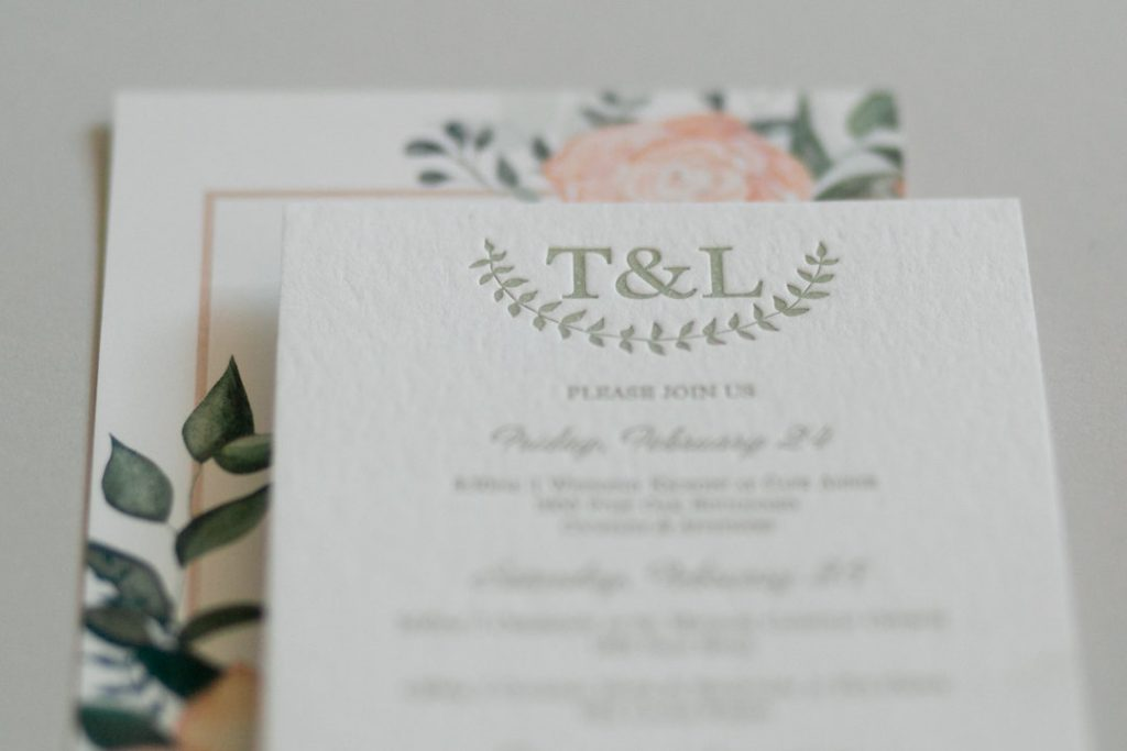 Letterpress printing is perfect for leaving a deep impression.