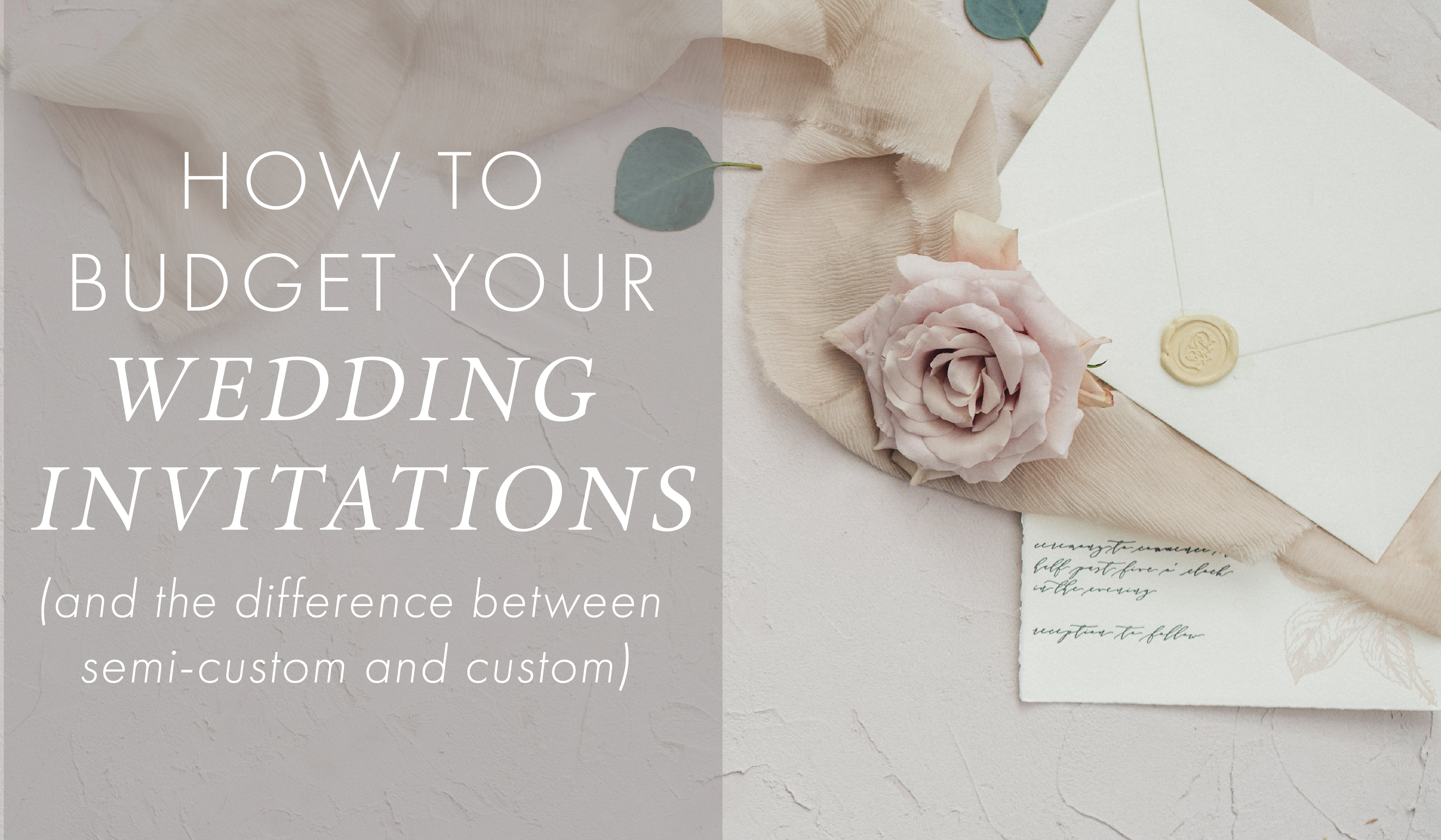 How to Budget Your Wedding Invitations