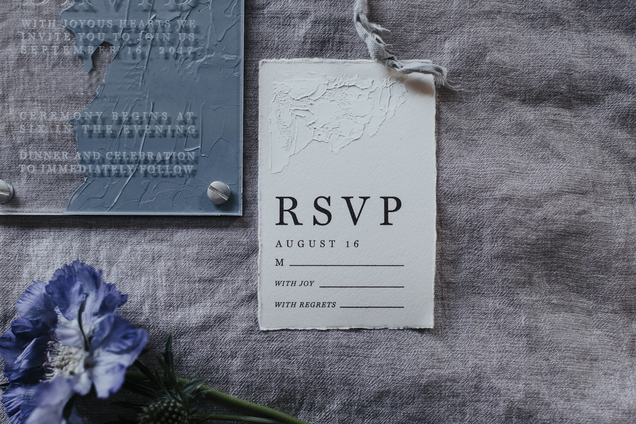 Handpainted Invitations, Acrylic, Luxury Wedding