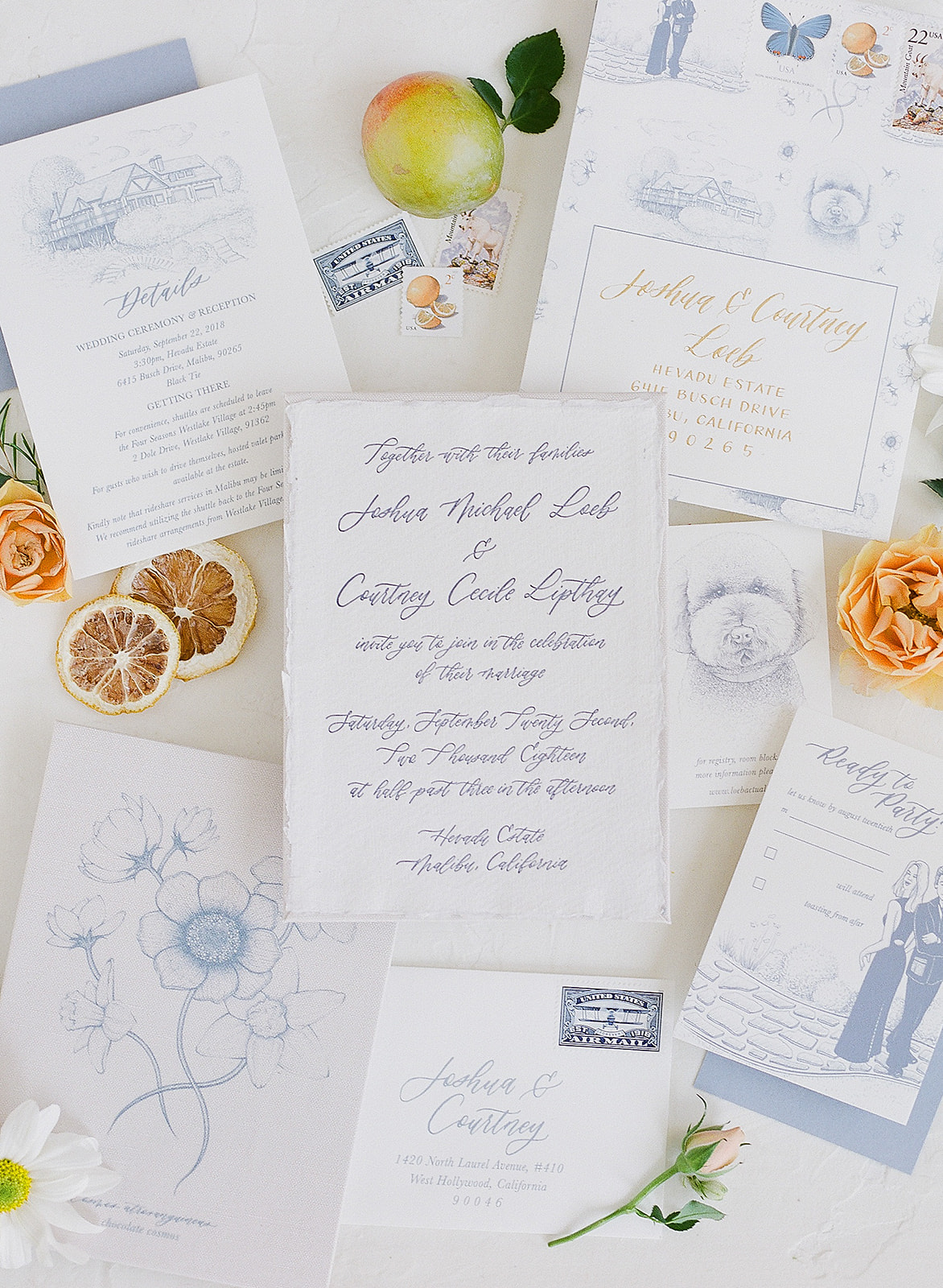 Cecile's Paper Co. Josh and Courtney Loeb Wedding